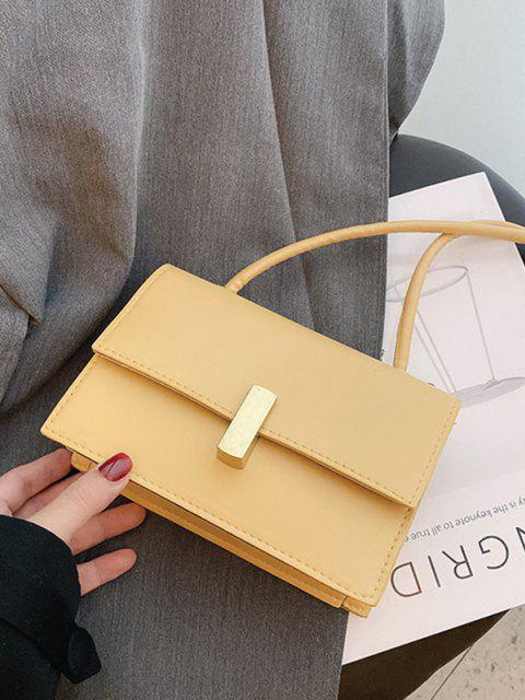 Quadratische Umhängetasche aus PU - Sonne Gelb  Mobile