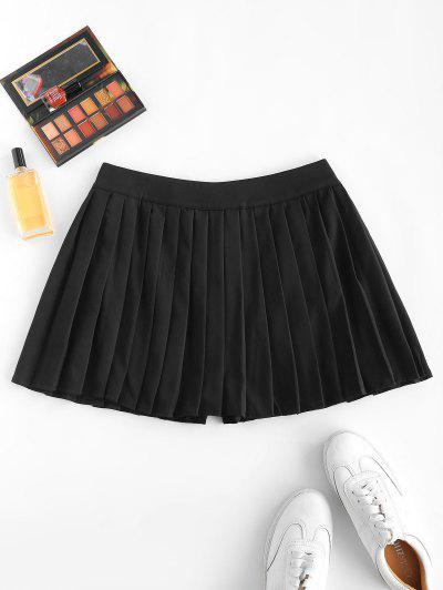 Pleated Mini Skorts - Black S