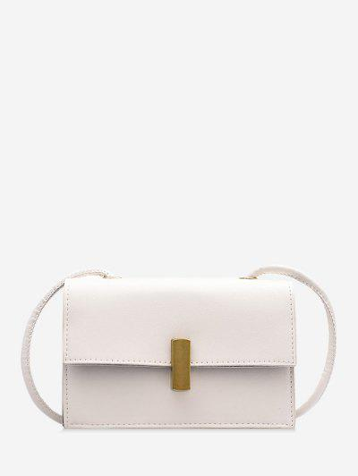 PU Square Small Crossbody Bag - Milk White