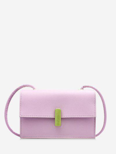 PU Square Small Crossbody Bag - Mauve