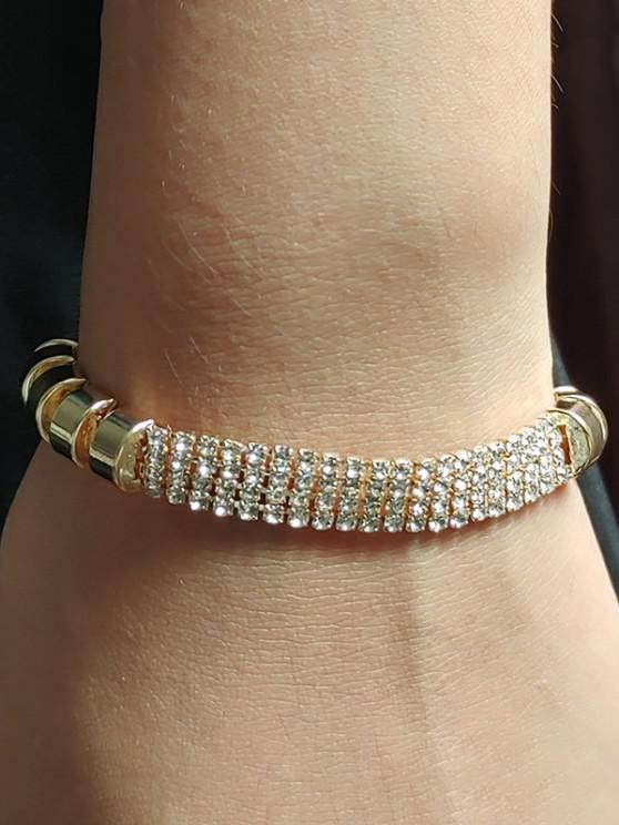 trendy Adjustable Rhinestone Alloy Bracelet - GOLDEN