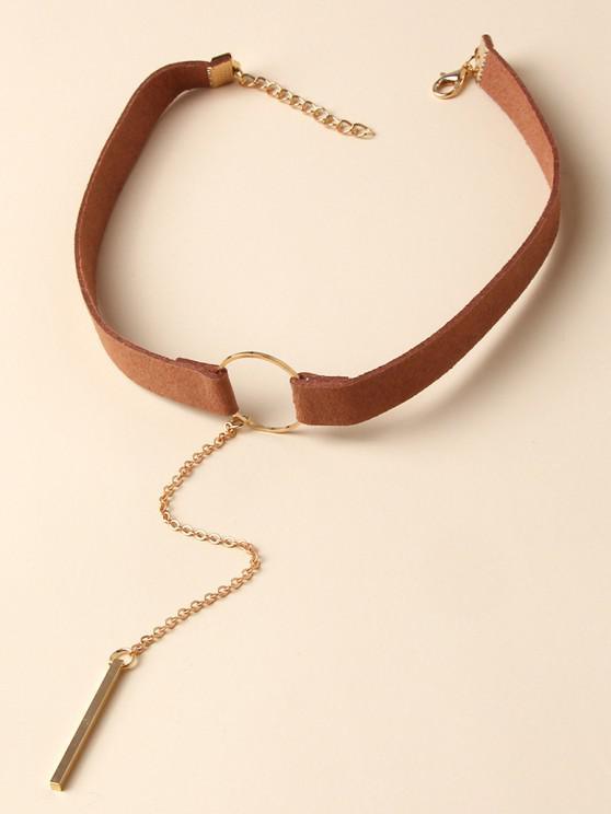 sale Bar Pendant Wide Choker Necklace - SILVER