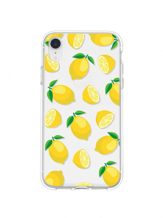 chic Lemon Pattern Transparent Phone Case For IPhone - YELLOW XR