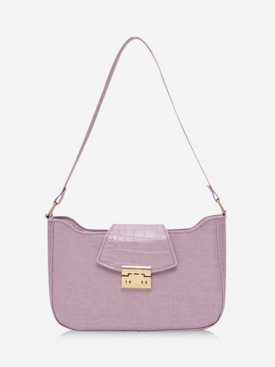 best Textured Rectangle Shoulder Bag - MAUVE