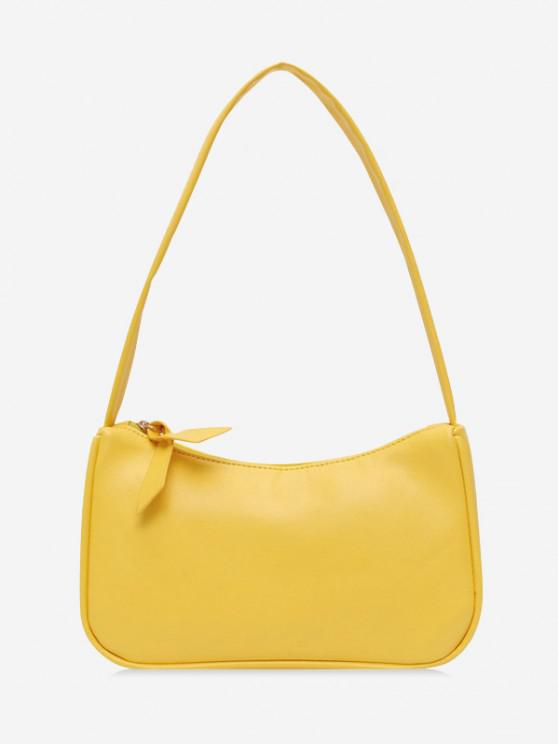 affordable Brief Rectangle Shoulder Bag - SUN YELLOW