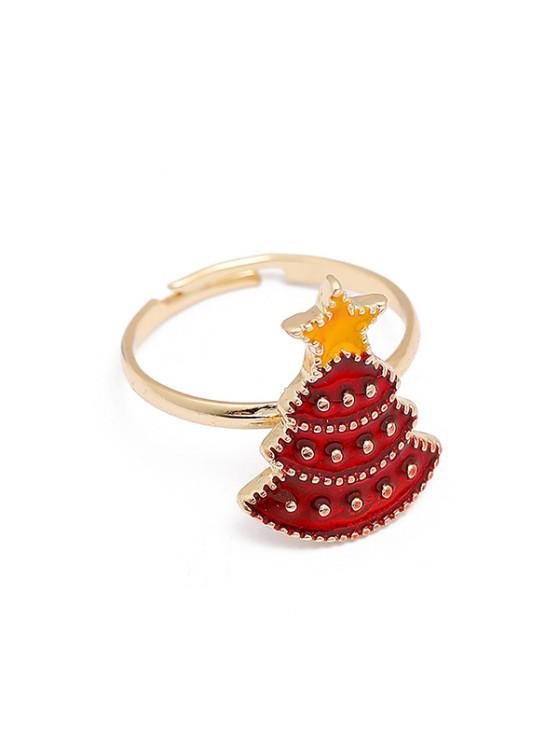chic Christmas Adjustable Open Ring - MULTI-A
