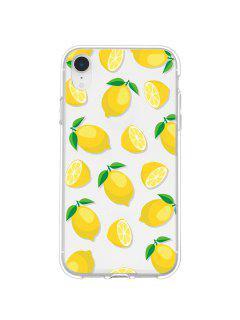 Lemon Pattern Transparent Phone Case For IPhone - Yellow Xr