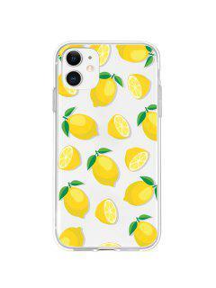 Lemon Pattern Transparent Phone Case For IPhone - Yellow 11