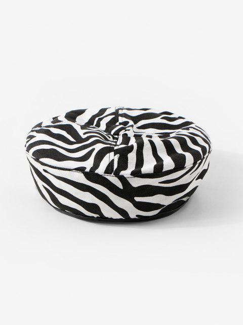 Berretto con Stampa a Zebra - Bianca  Mobile