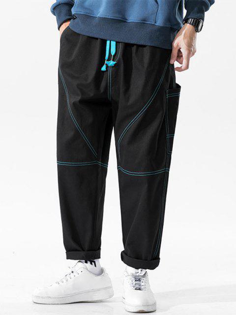 Pantalones Bolsillo Lateral Costura - Negro XS Mobile