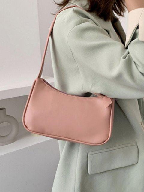women's Brief Rectangle Shoulder Bag - PIG PINK  Mobile