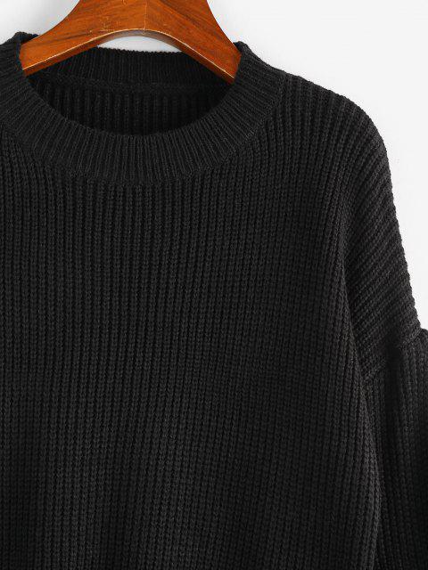 ZAFUL Chinesiche Ärmel Einfarbiger Pullover - Schwarz M Mobile