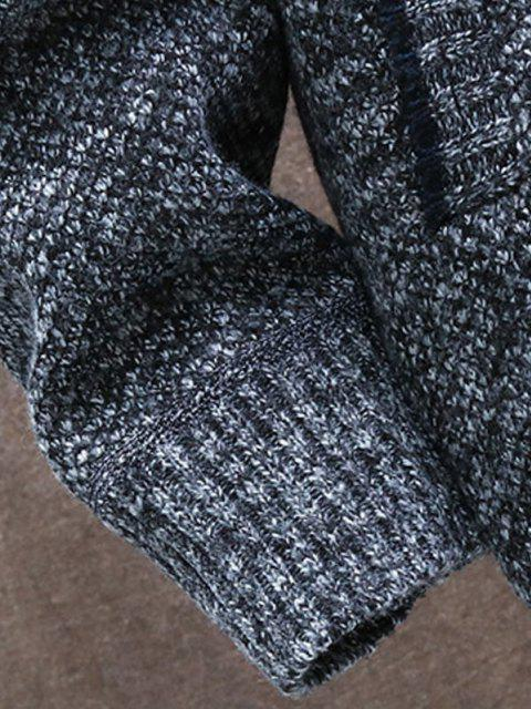 affordable Front Pocket Zip Up Fleece Cardigan - DARK GRAY XS Mobile