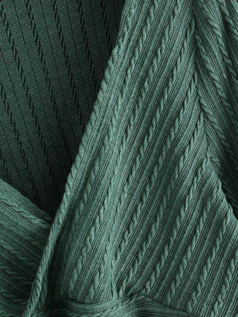 Jersey Tejido Entrelazado Corto - Verde M Mobile
