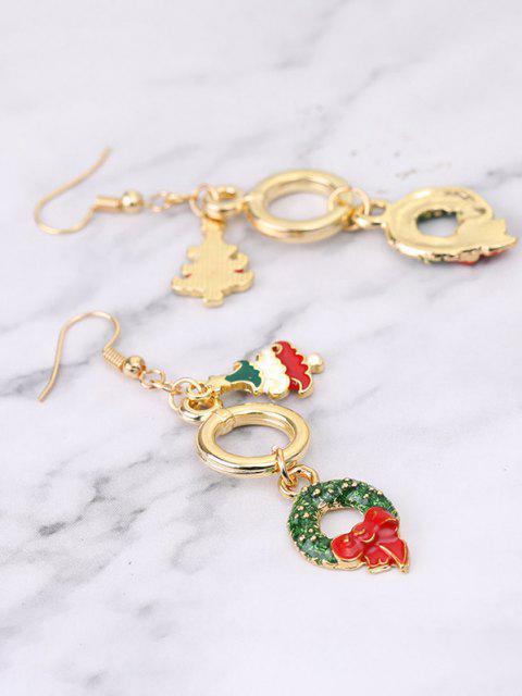 chic Christmas Tree Garland Dangle Earrings - GOLDEN  Mobile