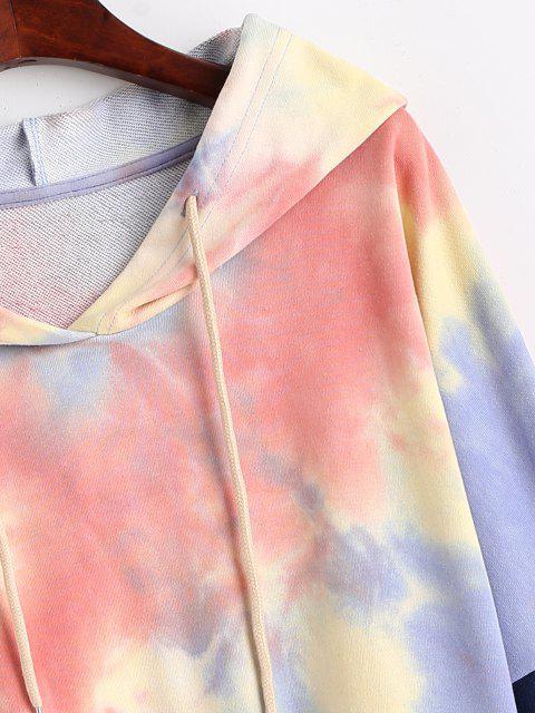 Jersey Sudadera con Capucha Panel Denim Cordón Ajustable - Multicolor-A S Mobile