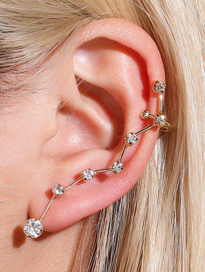 Rhinestone One-piece Ear Cuff - Golden