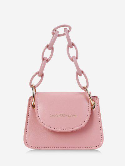 Chain Mini Cover Hand Bag - Pig Pink