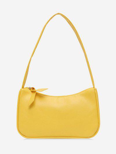 Bolsa Al Hombro Rectángulo Breve - Amarillo De Sol
