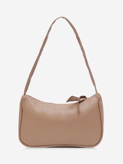 Brief Rectangle Shoulder Bag - Khaki Rose