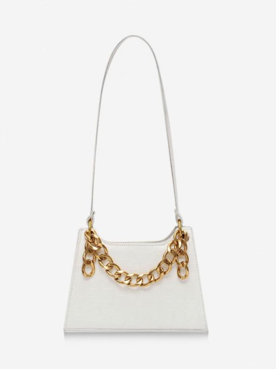 lady Retro Chain Shoulder Bag - MILK WHITE
