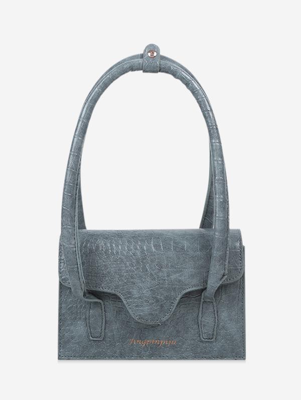Letters Print Cover Shoulder Bag
