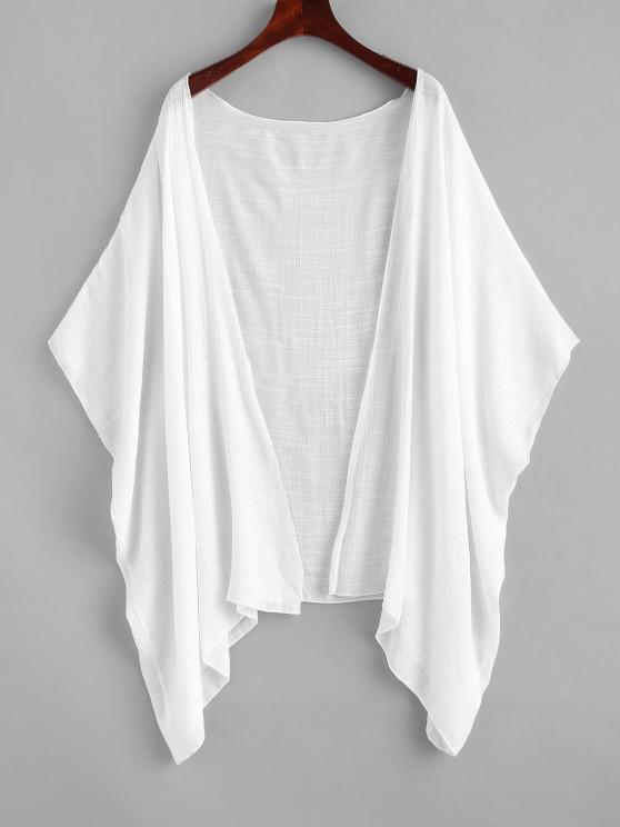 fashion Kimono Cover-up - WHITE ONE SIZE