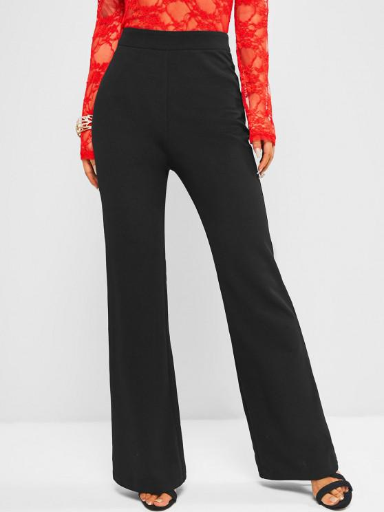 online ZAFUL High Waisted Plain Boot Cut Pants - NIGHT S