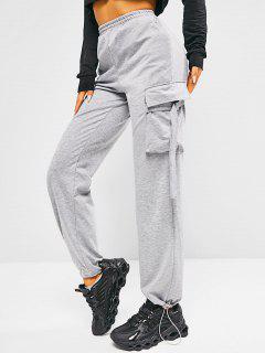 ZAFUL Pantalon De Survêtement Avec Poches - Gris Clair S