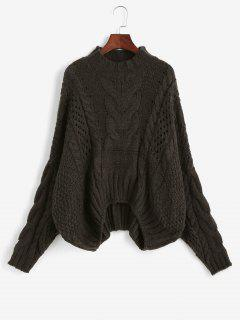 Cable Knit Chunky Oversize Sweater - Coffee