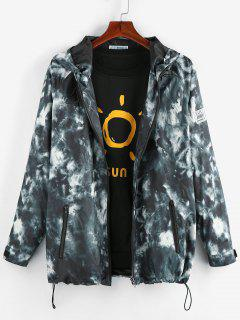 ZAFUL Tie Dye Raglan Sleeve Hooded Jacket - Multi L