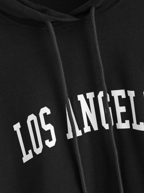 shops Pullover Los Angeles Graphic Front Pocket Hoodie - BLACK XL Mobile