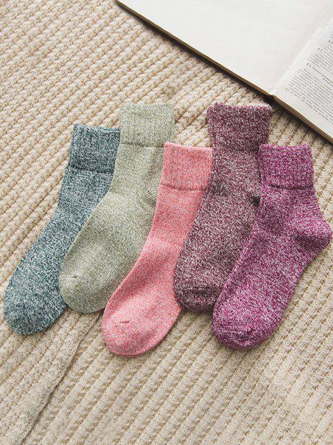 women's 5 Pairs Marled Winter Socks Set - MULTI-A  Mobile
