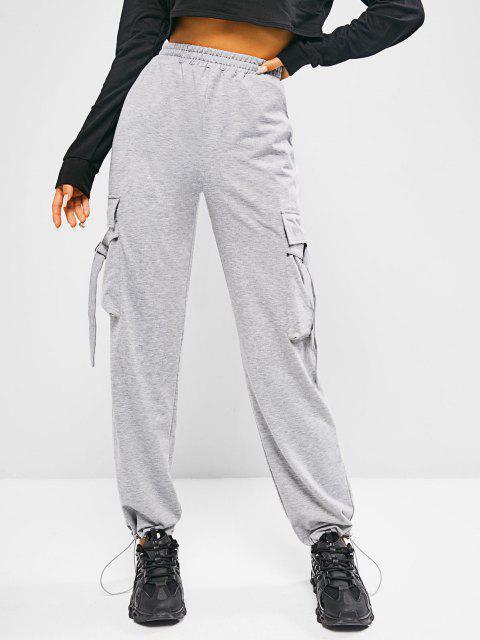 Pantaloni Sportivi di ZAFUL con Tasche - Grigio Chiaro S Mobile