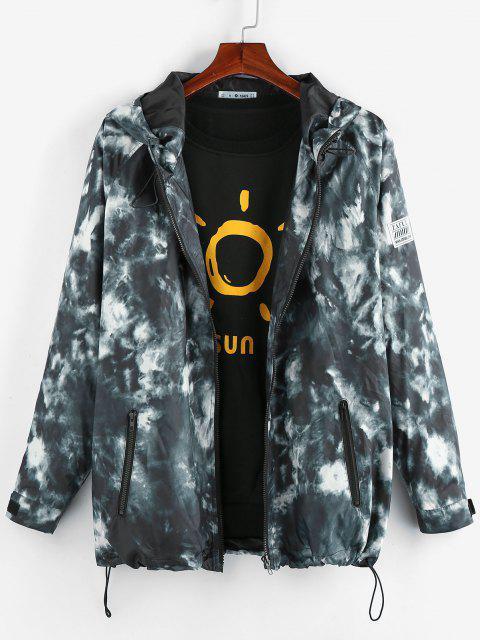 unique ZAFUL Tie Dye Raglan Sleeve Hooded Jacket - MULTI S Mobile