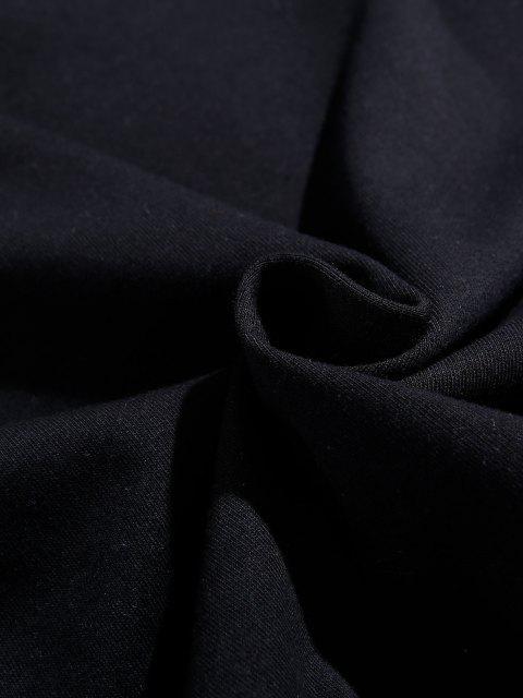 affordable Letter Unicorn Pattern Drop Shoulder Sweatshirt - BLACK 2XL Mobile