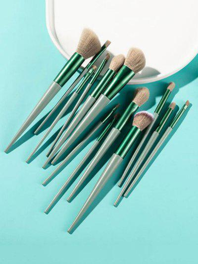 13Pcs Face Eye Makeup Brush Set - Light Green