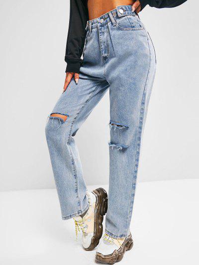 Lavagem Leve Angustiada Do Namorado Jeans - Azul M