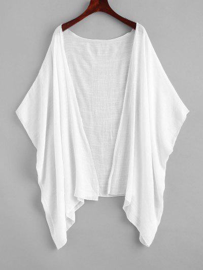Encobrimento Kimono De Praia - Branco