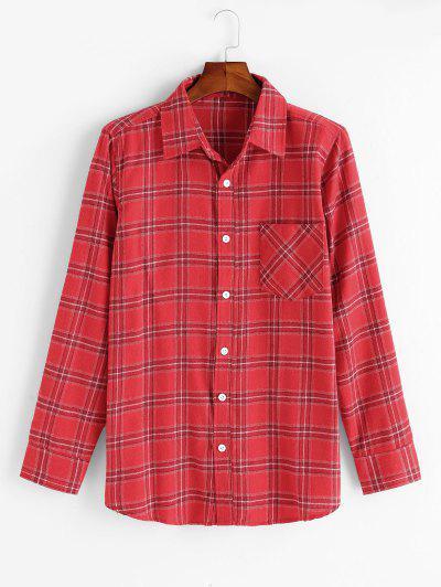 Plaid Pattern Long Sleeve Shirt