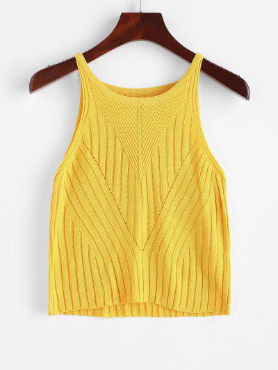 Regata Lisa Com Nervuras - Amarelo