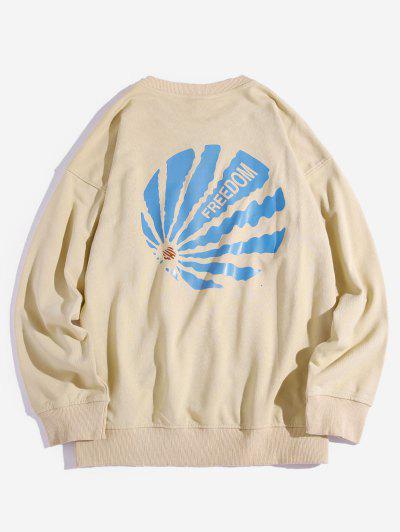 Zaful / Drop Shoulder Freedom Graphic Sweatshirt