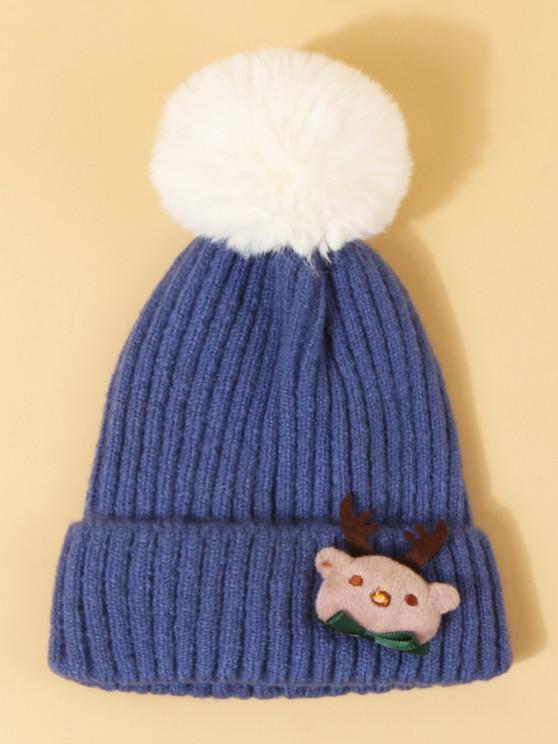 Cappello di Natale con Pompon - Blu Dodger