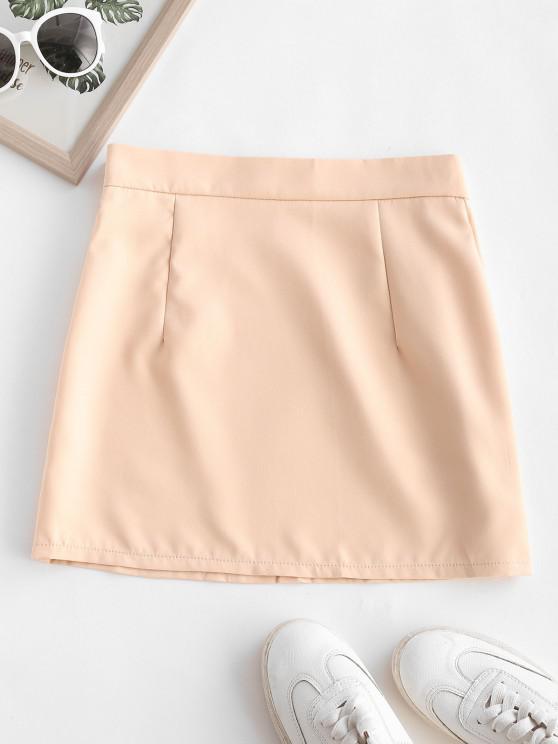 ladies Sheath Mini Pelmet Skirt - LIGHT COFFEE M