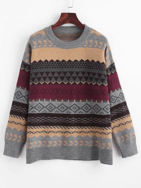 Suéter felpudo com gola redonda - Multi-A Um Tamanho