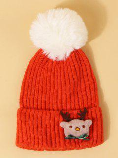 Chapeau WapitideNoël Avec Pompon Design - Orange Vif