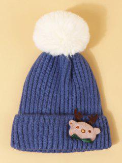 Chapeau WapitideNoël Avec Pompon Design - Bleu Dodger