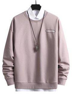 Crewneck 2 In 1 Put In Something Graphic Sweatshirt - Light Pink M
