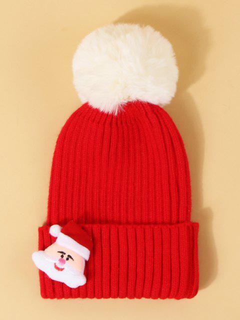 Chapéu de Pom Tricotado com Padrão de Pai Natal - Lava Vermelha  Mobile