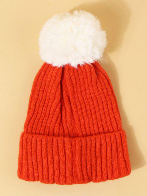 unique Christmas Elk Design Pom Pom Hat - BRIGHT ORANGE  Mobile